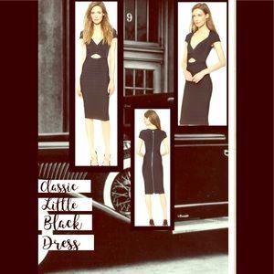 Herve Leger Signature Little Black Dress-NWT